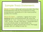 sample thesis statements
