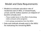 model and data requirements