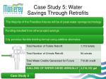 case study 5 water savings through retrofits