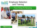 employee selection and training