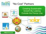 no cost partners