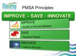 pmsa principles