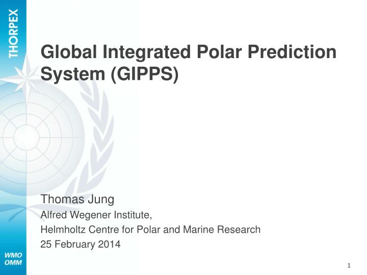 global integrated polar prediction system gipps n.