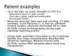 patient examples