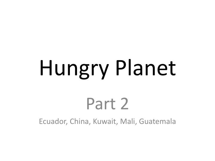 hungry planet n.