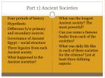 part 1 ancient societies