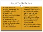 part 3 the middle ages