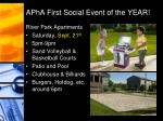 apha first social event of the year