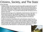 citizens society and the state civil society