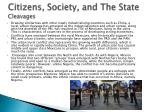 citizens society and the state cleavages