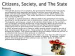 citizens society and the state protests