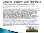 citizens society and the state relationship with the government during pri rule
