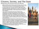 citizens society and the state relationship with the government post pri rule