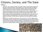 citizens society and the state voting
