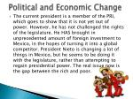 political and economic change2