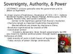 sovereignty authority power