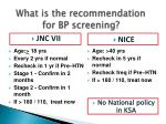 what is the recommendation for bp screening