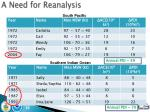 a need for reanalysis1