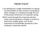 proxy fight