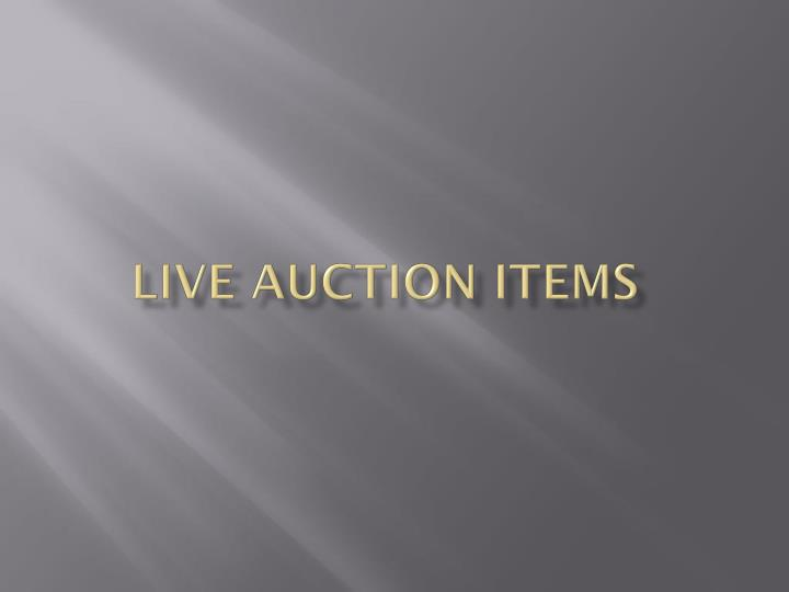 live auction items n.