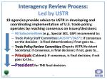 interagency review process led by ustr