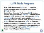 ustr trade programs