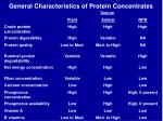 general characteristics of protein concentrates