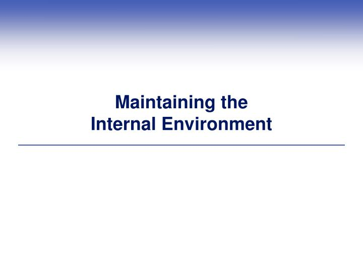 maintaining the internal environment n.