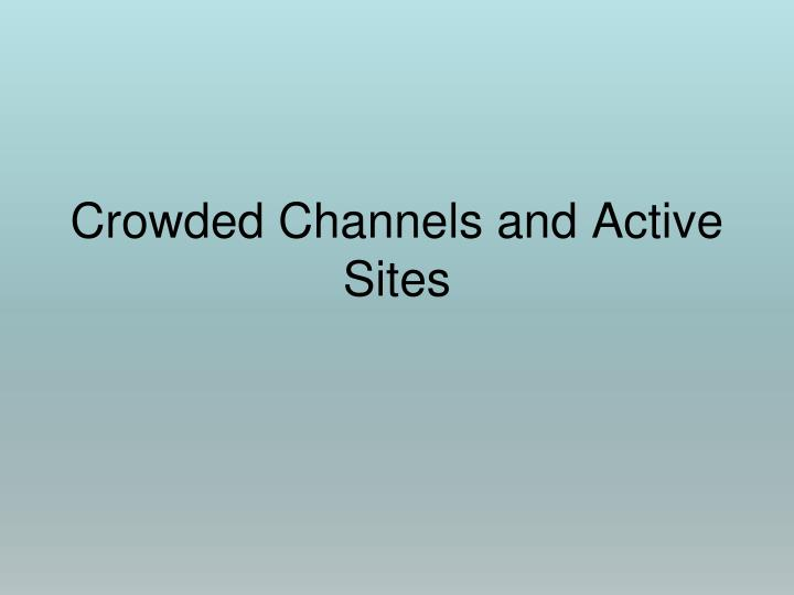 crowded channels and active sites n.