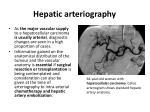 hepatic arteriography