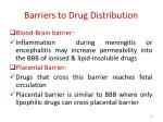 barriers to drug distribution