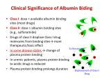 clinical significance of albumin biding