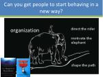 can you get people to start behaving in a new way1