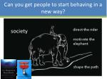 can you get people to start behaving in a new way2