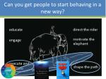 can you get people to start behaving in a new way6