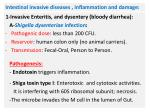 intestinal invasive diseases inflammation and damage