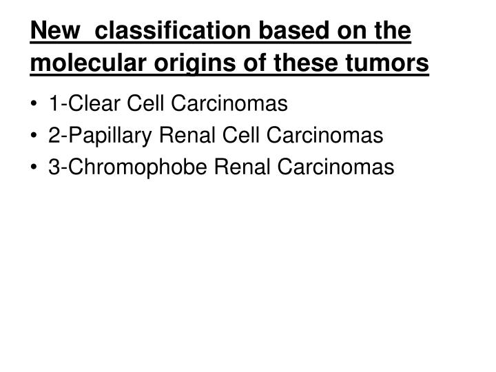 New  classification based on the molecular origins of these tumors