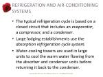 refrigeration and air conditioning systems