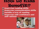 how do kids benefit