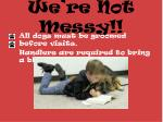 we re not messy