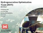 hydrogeneration optimization team hot joc brief