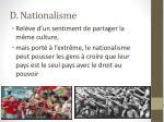 d nationalisme