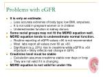 problems with egfr