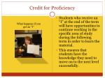 credit for proficiency4