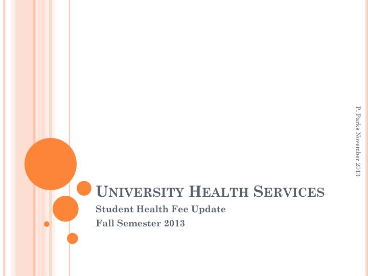 university health services n.