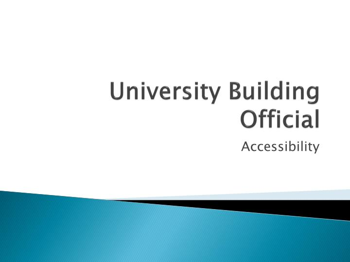 university building official n.
