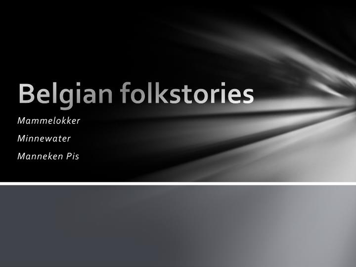 Belgian folkstories