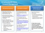 bh setting specific criteria consent management