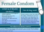 female condom