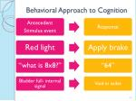 behavioral approach to cognition